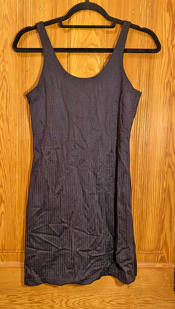 Black Athletic Jersey Tank Dress (Small)