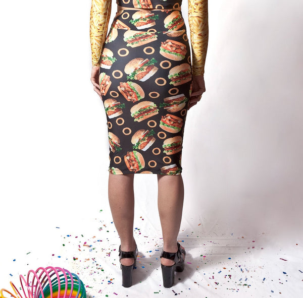 Burger Pencil Skirt (Small)