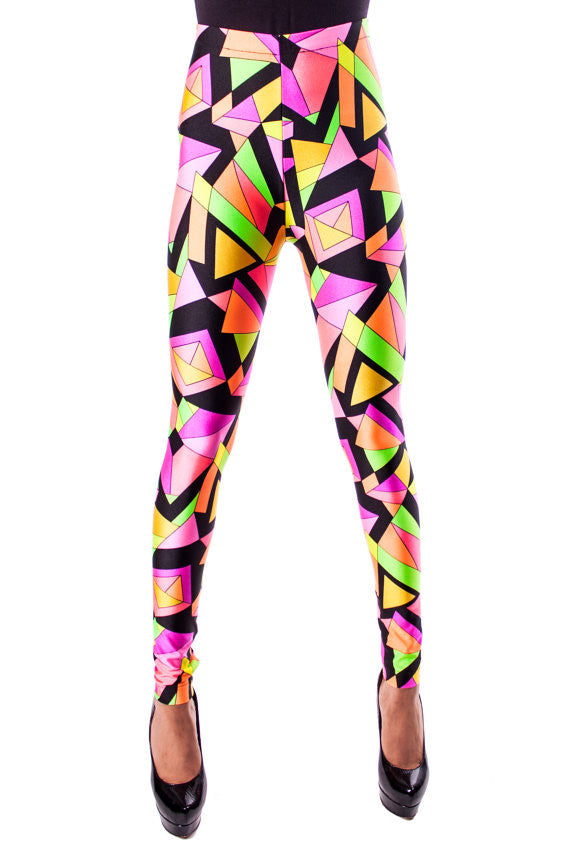 Pink Kaleidoscope Leggings