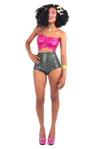 Black Mermaid High Rise Swim Brief