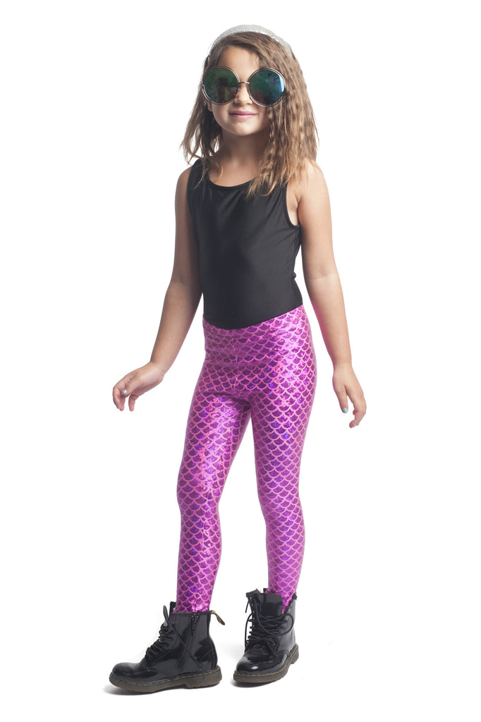 Pink Mermaid Kids Leggings