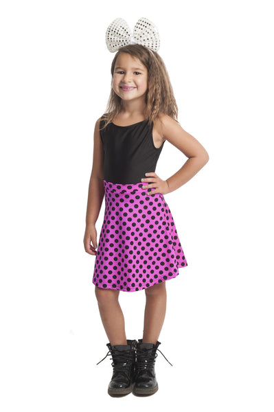 Polka Dot Kids Skater Skirt (Medium)