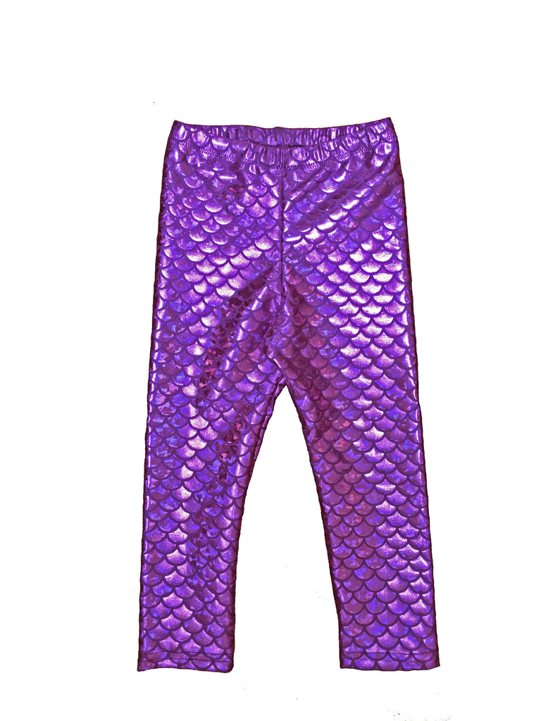 Purple Mermaid Kids Leggings