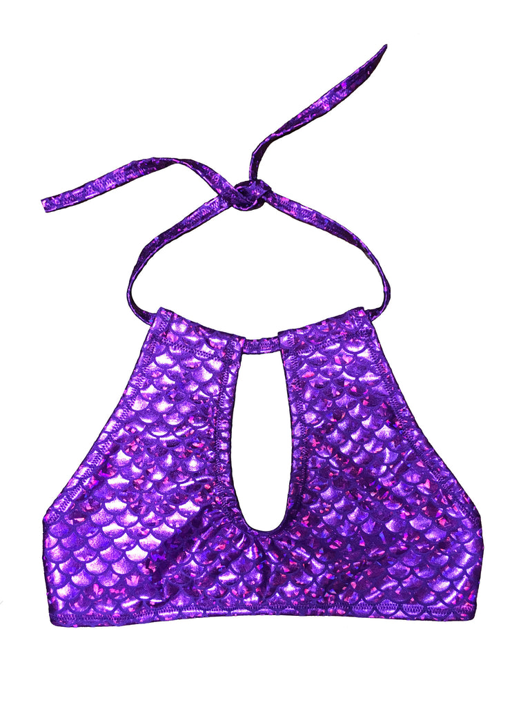 Purple Mermaid Halter Top