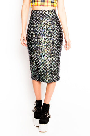 Black Mermaid Pencil Skirt