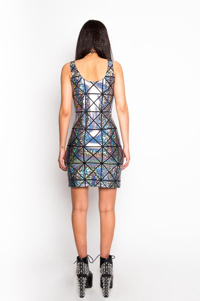 Silver & Black Disco Tank Dress