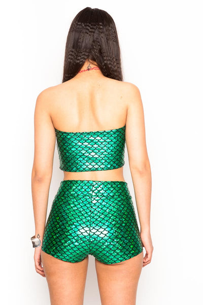 Green Mermaid Booty Shorts