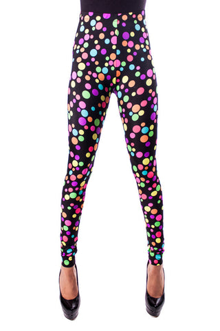 Rainbow Polka Dot Leggings