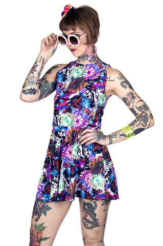 Rainbow Abyss Skater Dress