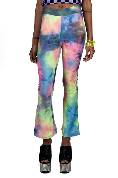 Rainbow Tie Dye Bell Bottoms