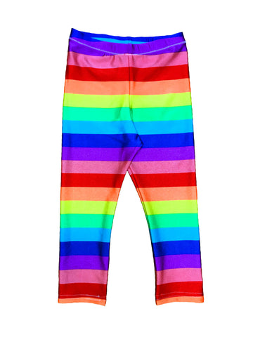 Rainbow Stripe Gay Pride Kids Leggings