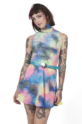 Rainbow Tie Dye Skater Dress
