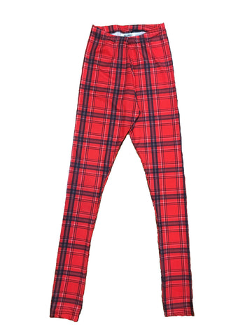 Red Plaid Leggings