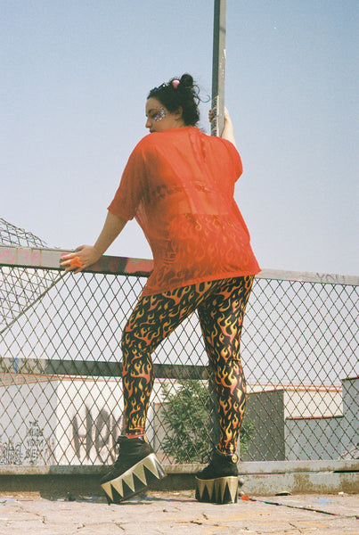 Blazing Flames Leggings