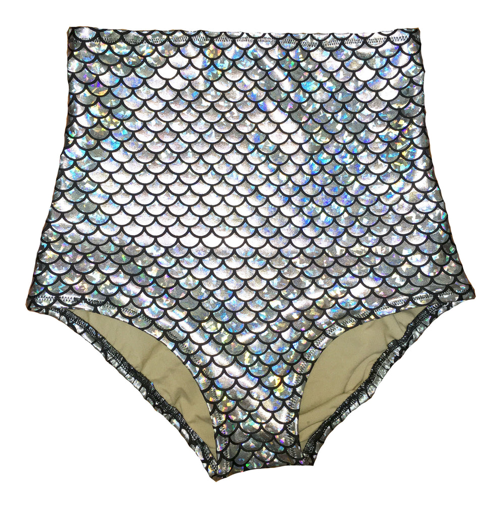 Silver Mermaid High Rise Swim Brief