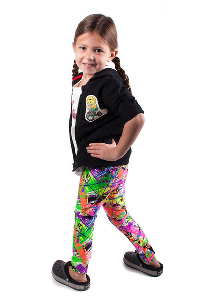 Paint Splatter Kids Leggings