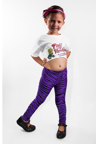 Purple Tiger Kids Leggings