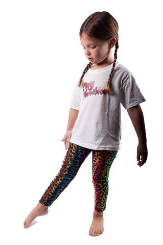 Rainbow Leopard Kids Leggings