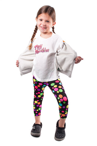 Rainbow Polka Dot Kids Leggings (size 2T)