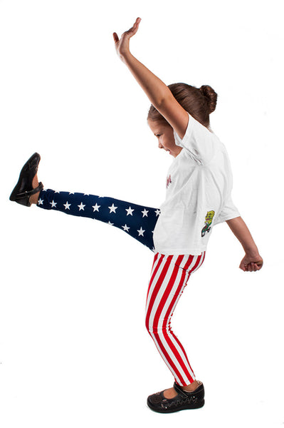 American Flag Kids Leggings