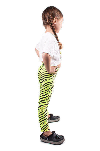 Yellow Tiger Kids Leggings