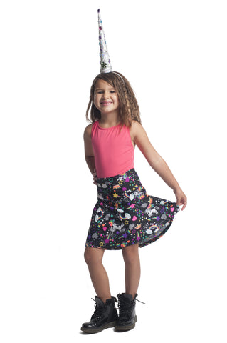 Unicorn Kawaii Kids Skater Skirt