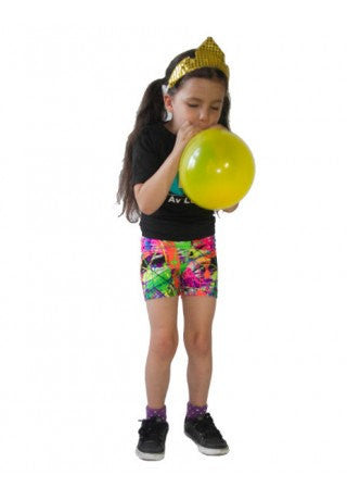 Paint Splatter Kids Shorts
