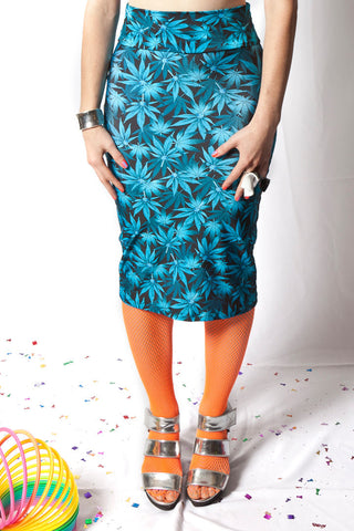 Blue Dream Pencil Skirt