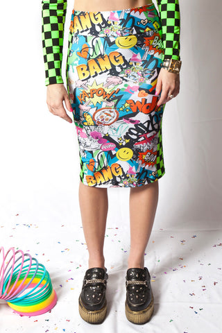 Bam! Pop! Pencil Skirt