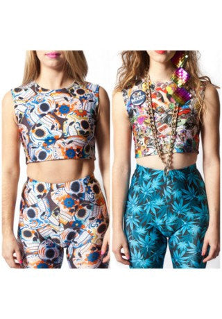 Skull & WTF Reversible Crop Top