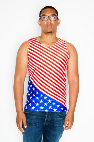American Flag Mens Tank Top