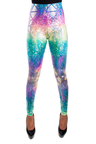 Rainbow Sherbet Disco Leggings