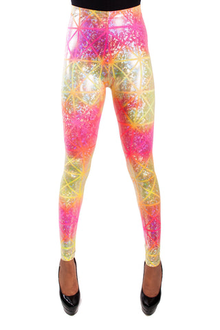 Tequila Sunrise Disco Leggings