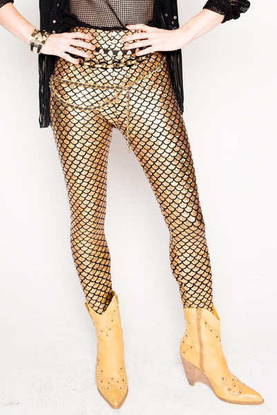 Gold Mermaid Leggings