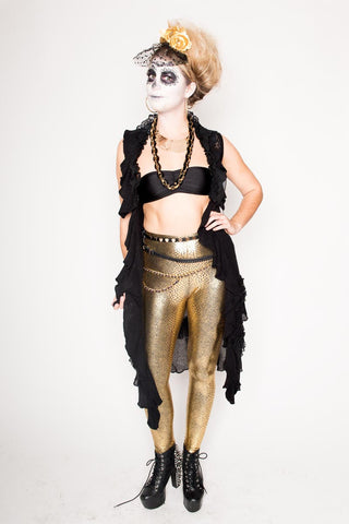 Gold Anaconda Leggings