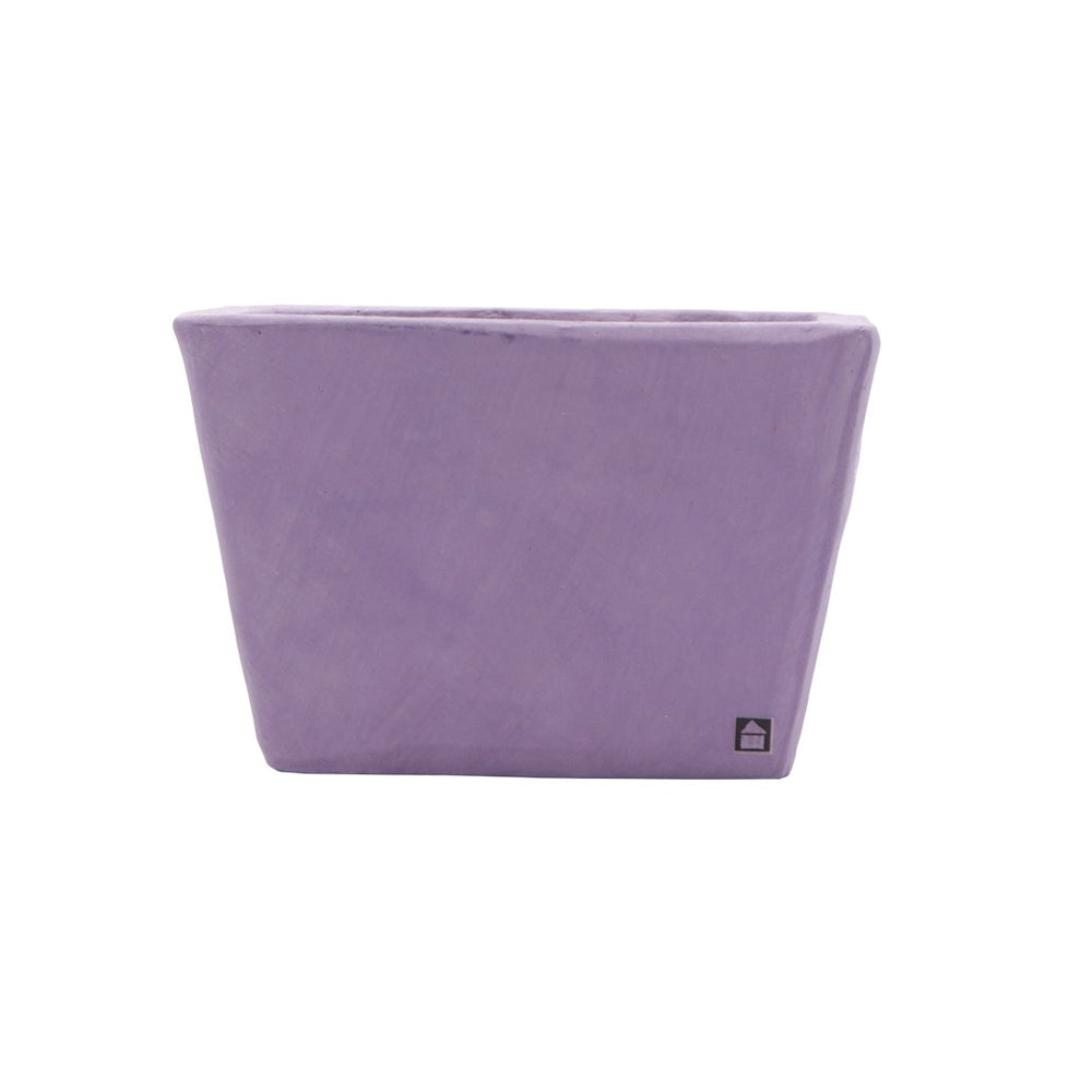 Purple Rectangle Pot
