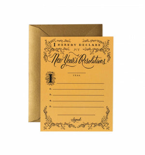 New Year's Resolution Constitution Card