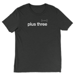 Plus Three Charcoal Tee