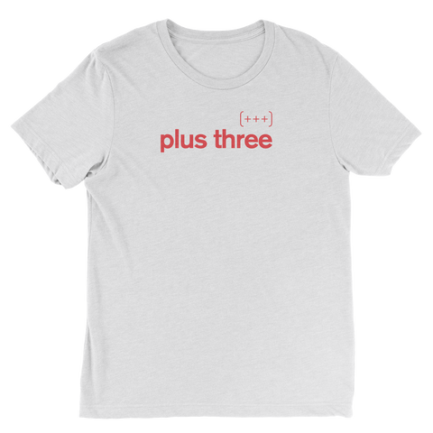 Plus Three White Tee
