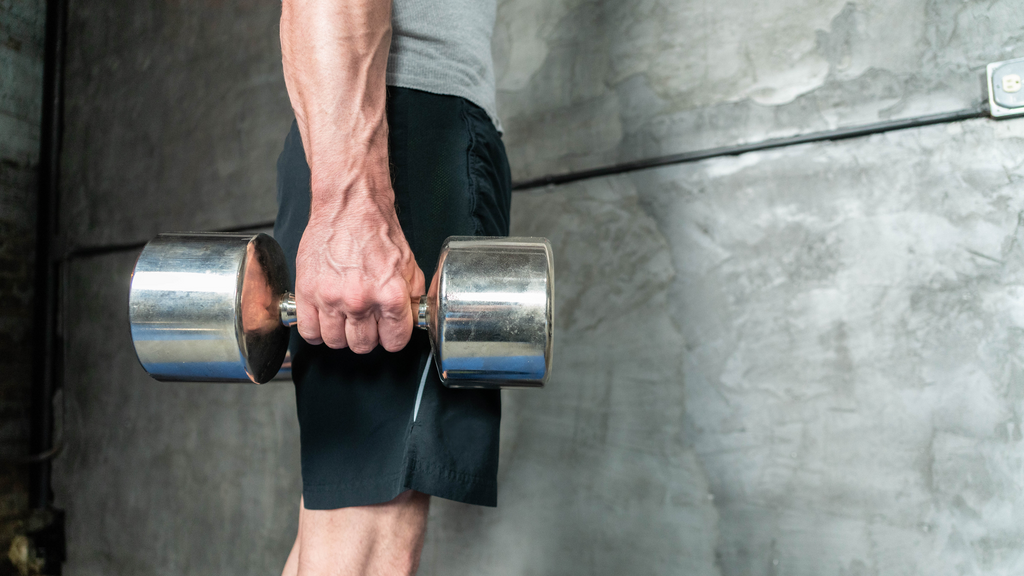 A Person Holding Dumbbells in Both Hands