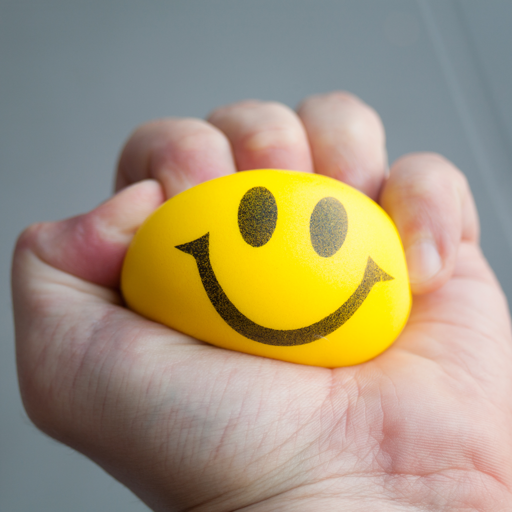 A Person Holding a Stress Ball