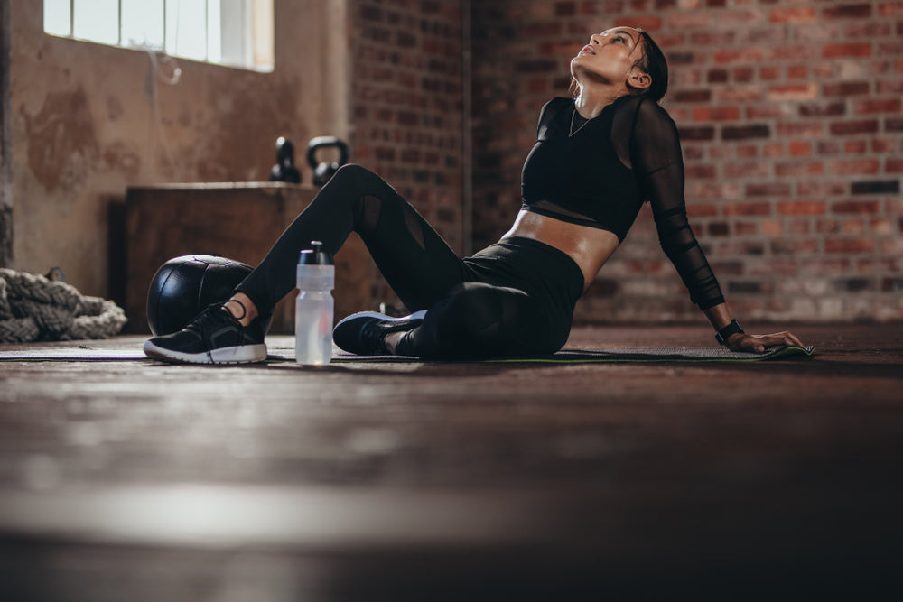 Person resting after a workout