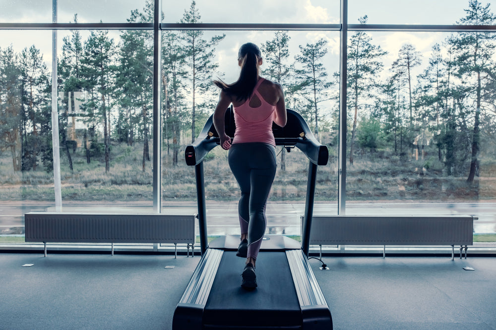 A Person Running on a Treadmill