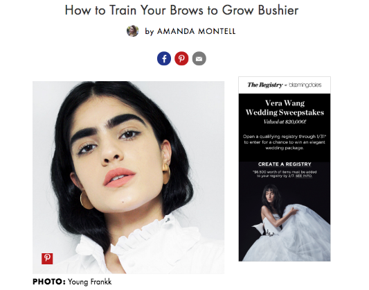 How to Grow your Brows with Advice from Boom Boom Brow Bar via BYRDIE