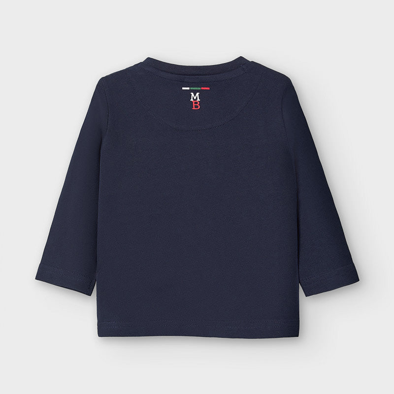 Long Sleeved T-shirt  - Navy/Cream