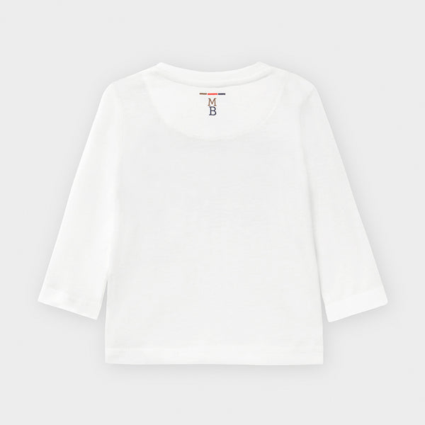 Long Sleeved T-shirt  - Cream/Navy
