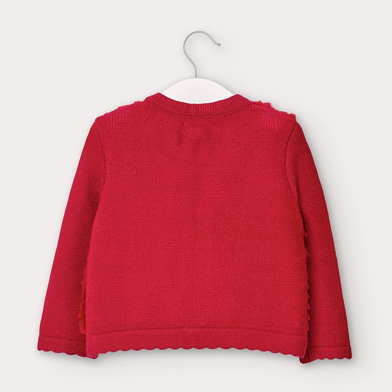 Tricot Cardigan - Red