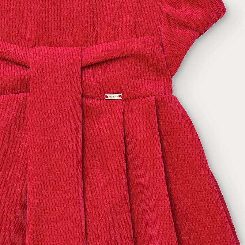 Red Needlecord Dress