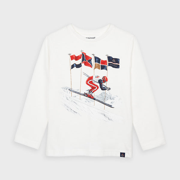 Long Sleeve T Shirt - Skier