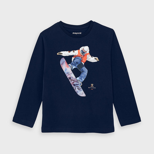 Long Sleeve T Shirt - Snowboarder